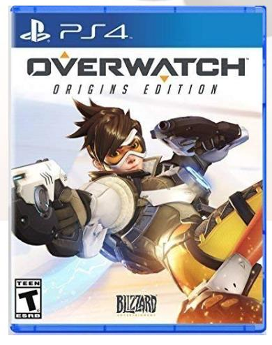 The Overwatch PS4 box