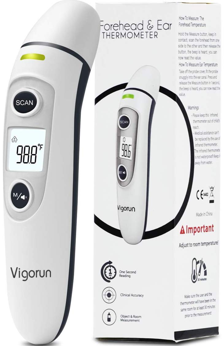 Portable Thermometer with Case New Model of Fast Baby Thermometer Infrared Forehead Thermometer for Kids and Adults Medical Forehead Thermometer for Fever Baby Temporal Digital Thermometer