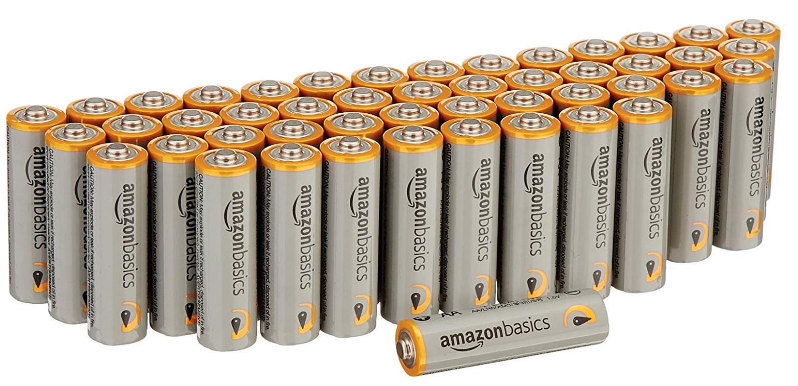 A 48 pack of Amazon batteries
