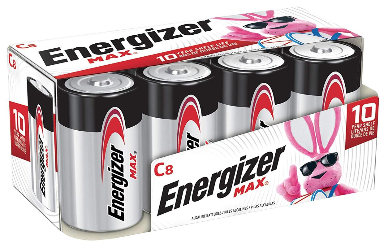 A pack of 8 Energizer Max C batteries