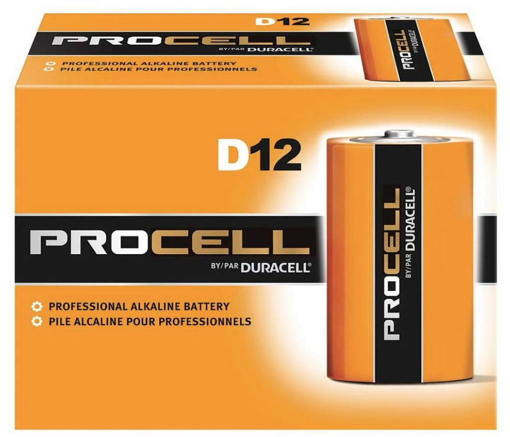 A 72-pack of ProCell D batteries