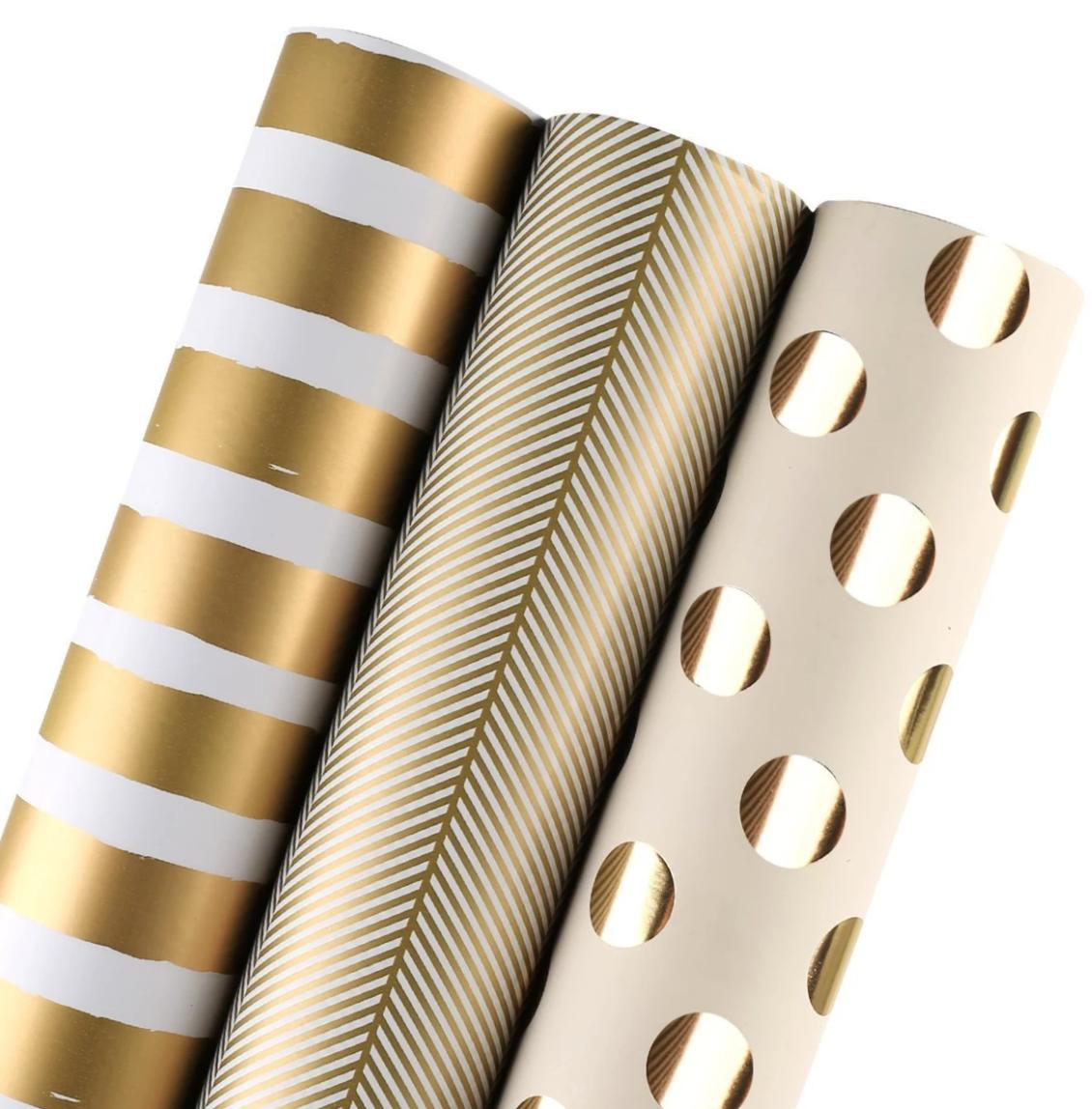 Gold foil wrapping paper