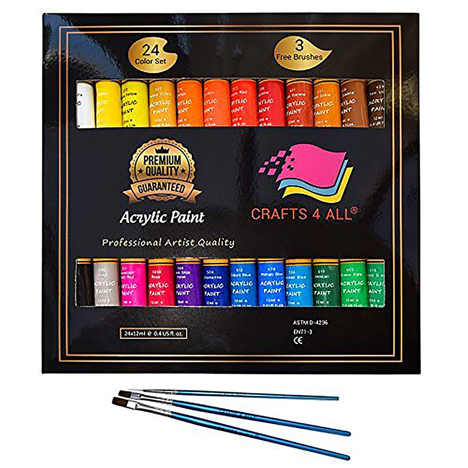 Crafts 4 All 24 count acrylic paint
