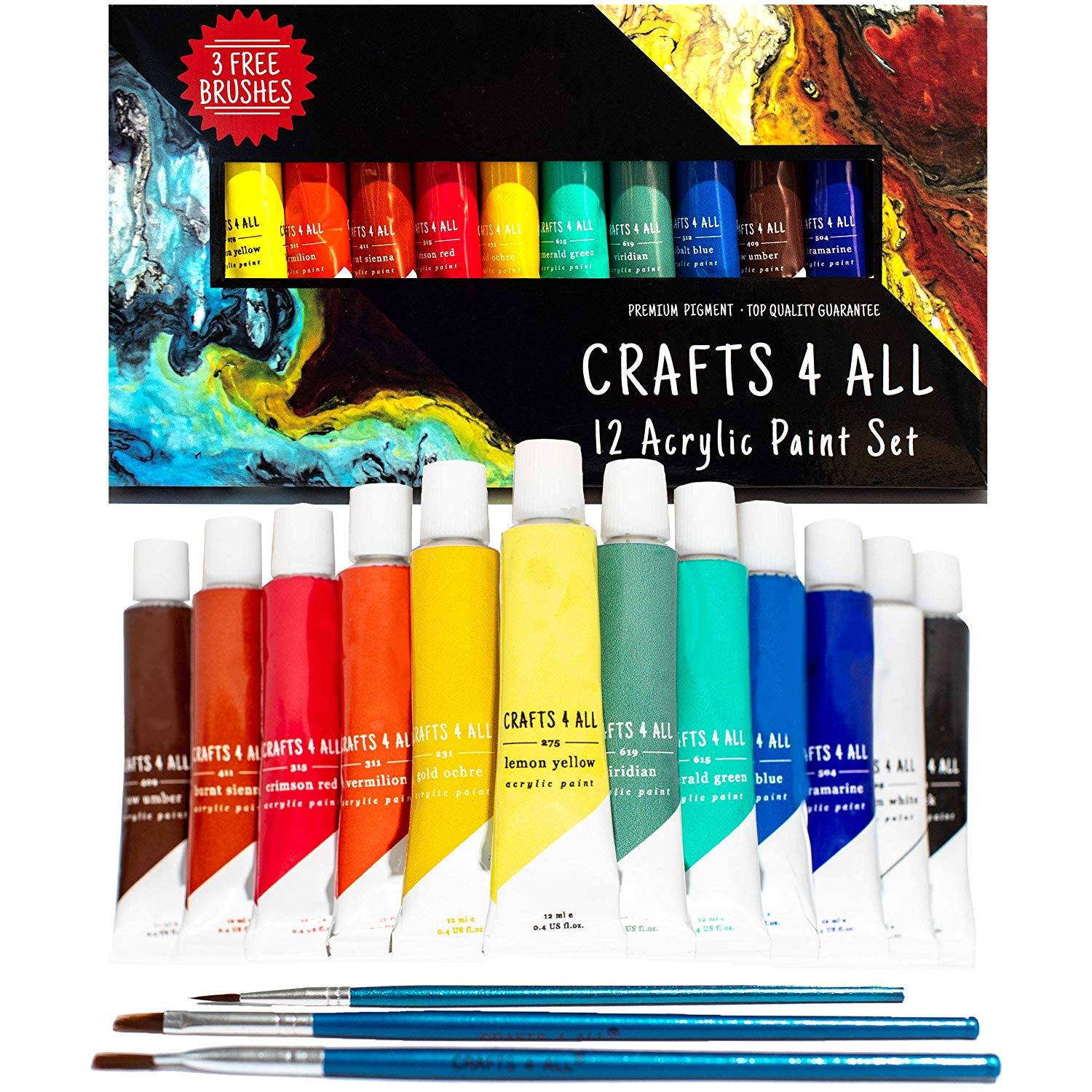 Crafts 4 All 12 count acrylic paint