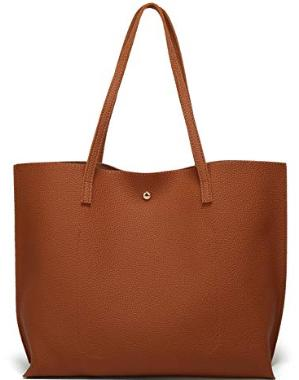 Dreubea Faux Leather Tote Bag