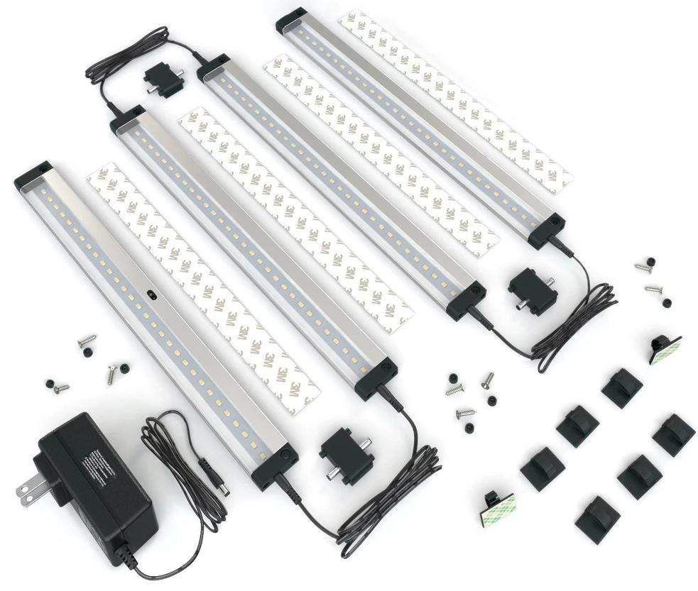 Shine 4 Panels 12 inch LED Dimmable Under Cabinet Lighting Kit