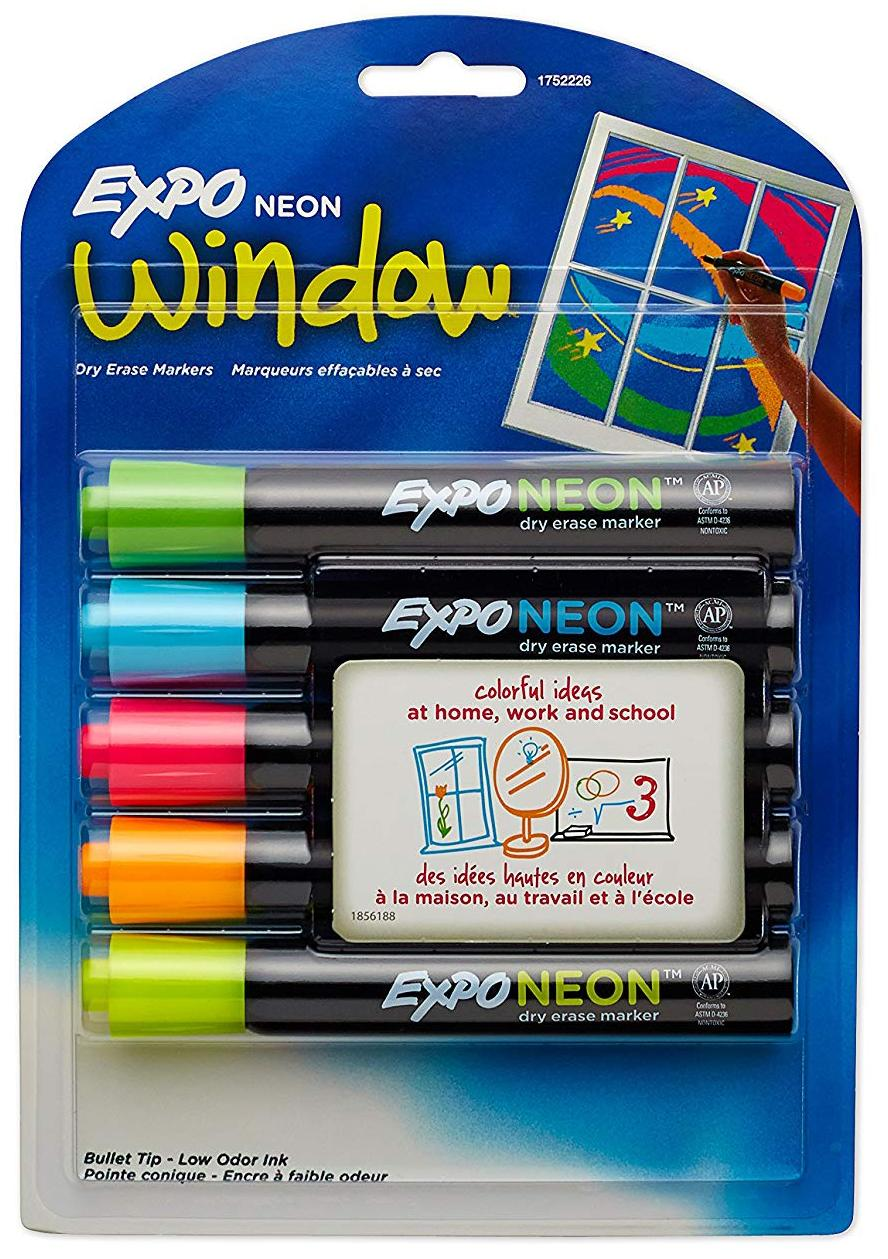 EXPO Neon Dry Erase Markers