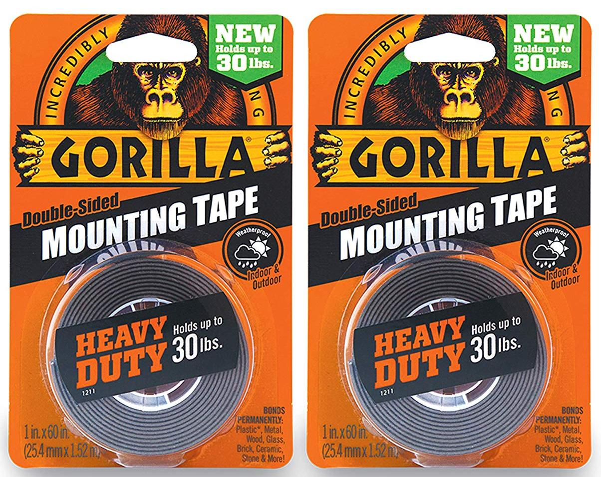 Gorilla Heavy Duty Double Sided 2 Pack Mounting Tape