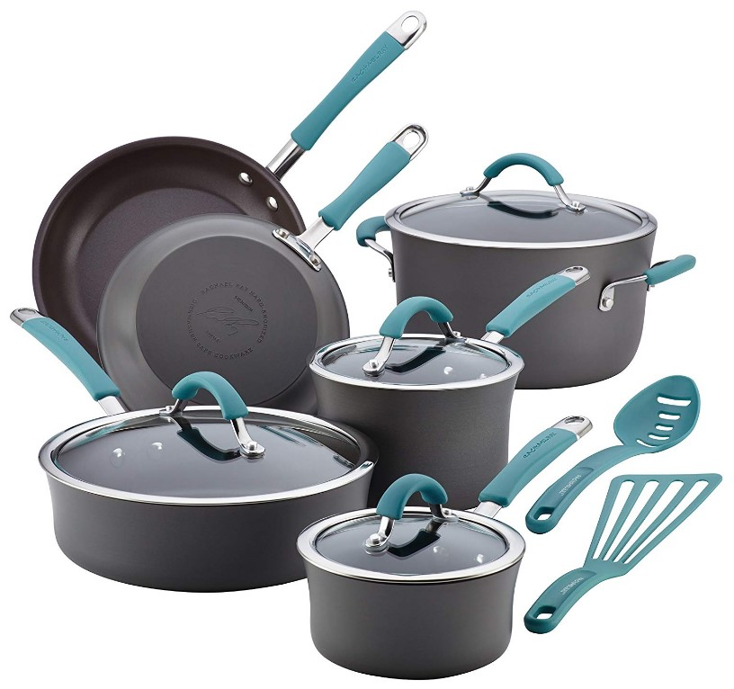 Rachael Ray 87641 Cucina Hard Anodized Nonstick 12 Piece Set