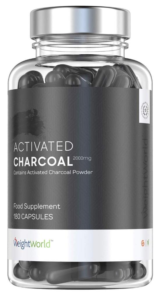 Weight World activated charcoal capsules