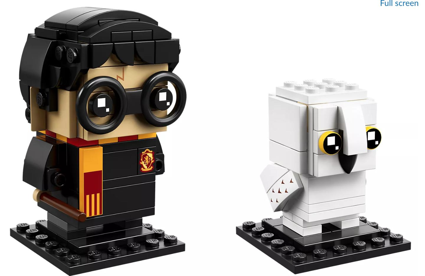 Harry Potter and Hedwig Brickheadz