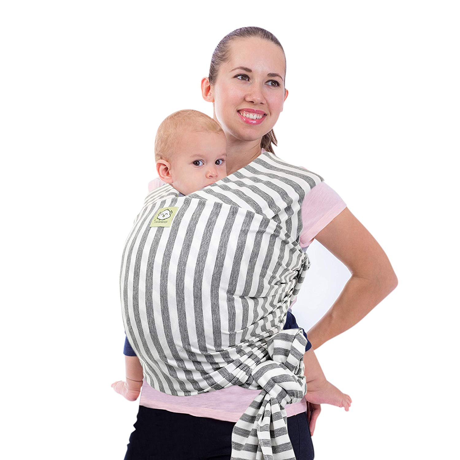 high Quality Baby Carrier for Newborns Babies up to 15kg Made of Soft Cotton Baby Sling Rose incl Baby wrap Carrier by Makimaja/® Carry Bag +Free Baby bib
