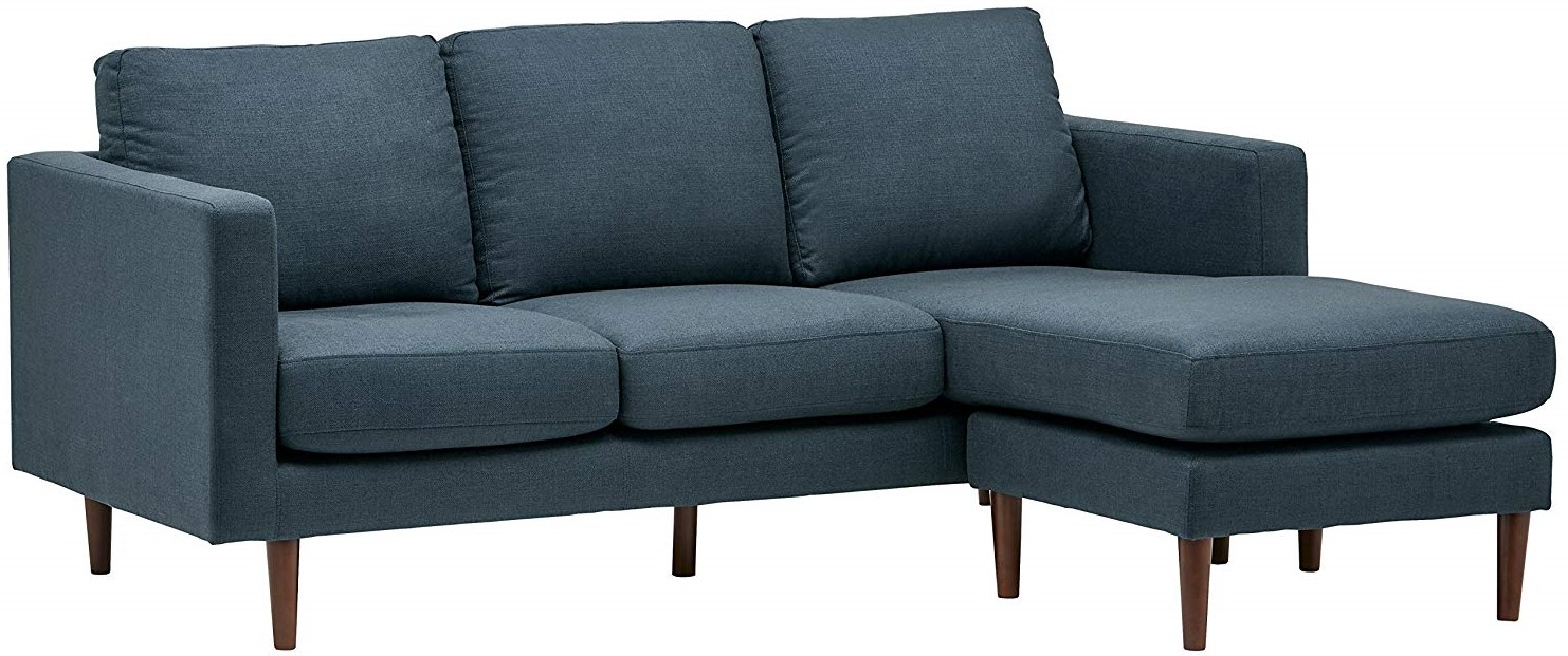 Rivet Revolve Modern Sofa with Reversible Sectional Chaise