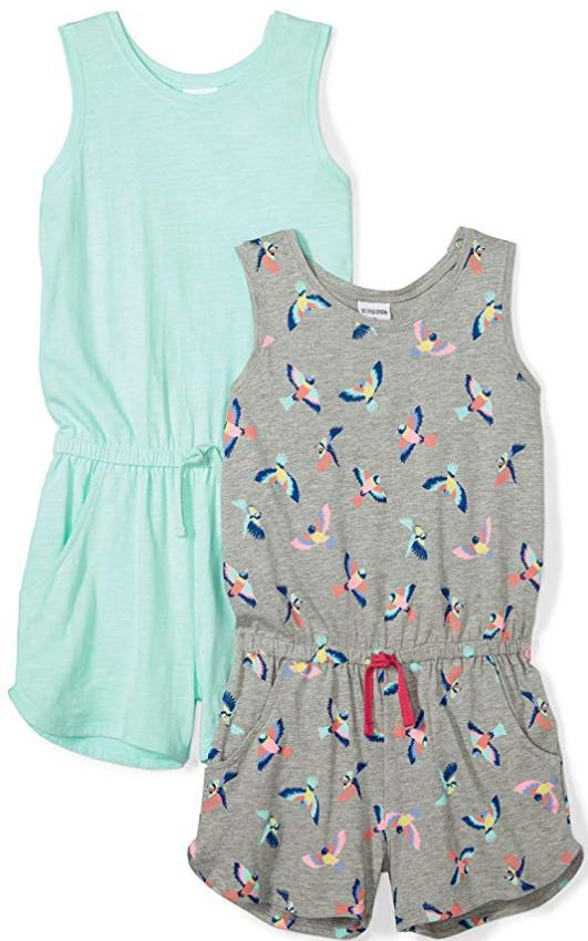 Spotted Zebra two pack tank romper