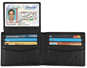 HIMI Leather RFID Bifold Wallet