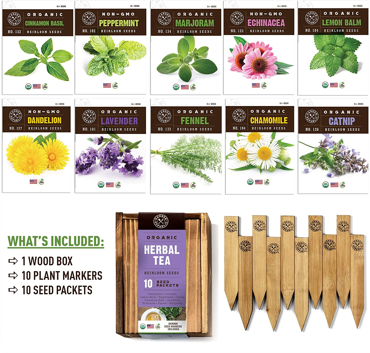 Garden Republic Herbal Tea Garden Kit