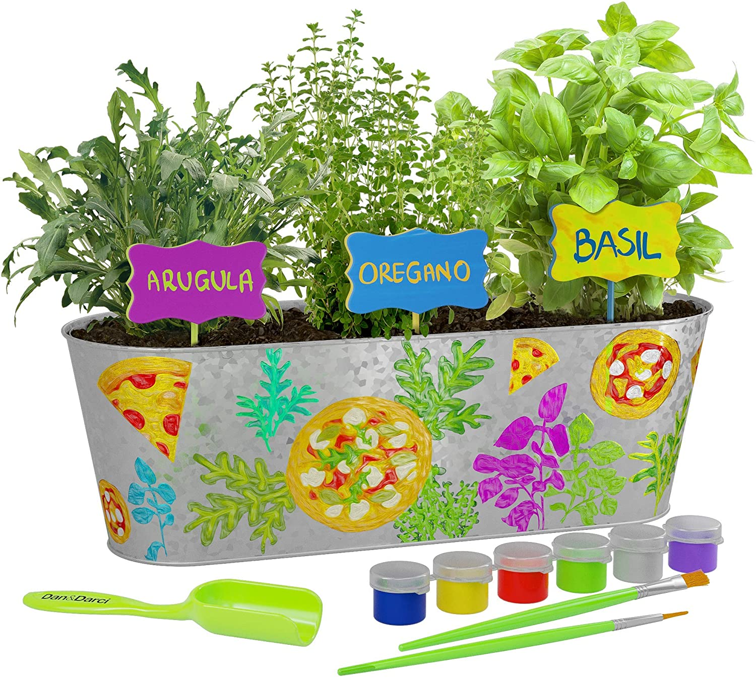 Kid Friendly Painted Herb Gardening KitKit
