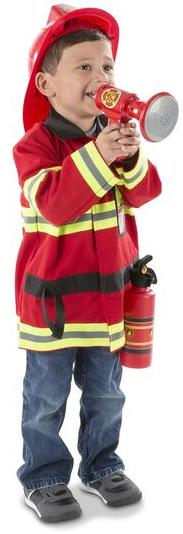 Melissa Doug Fire Chief Role Play Costume Set Render