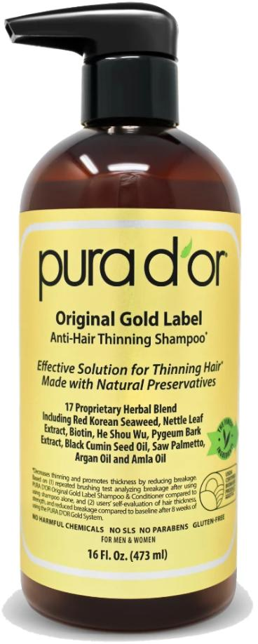 Pura Dor Original Gold Label Anti Hair Thinning Shampoo Render
