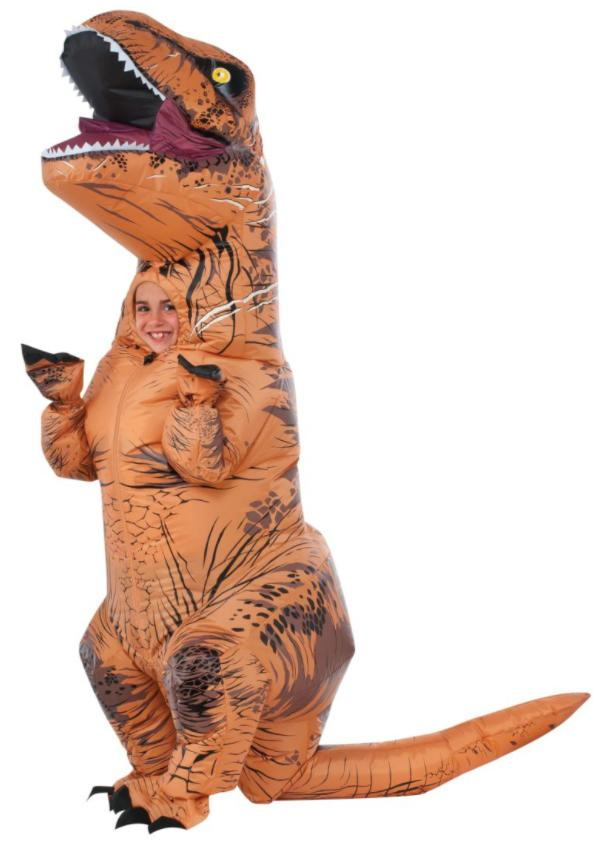 Rubies Jurassic World T Rex Inflatable Costume Render