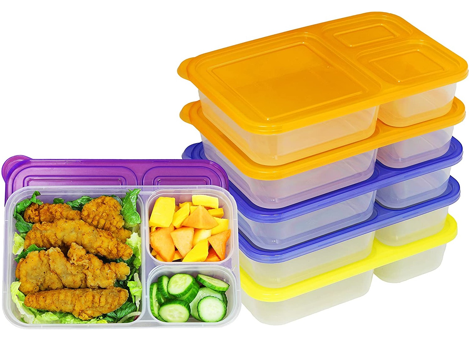 Simplehouseware 6pc Meal Prep Containers