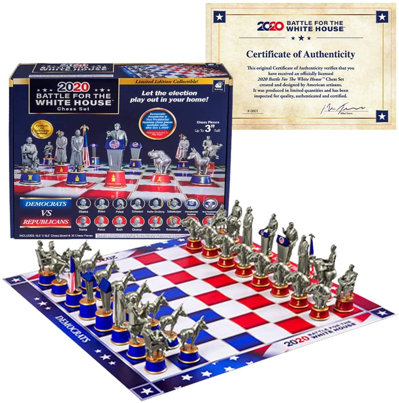 Bulbhead Battle White House Collector Chess Set