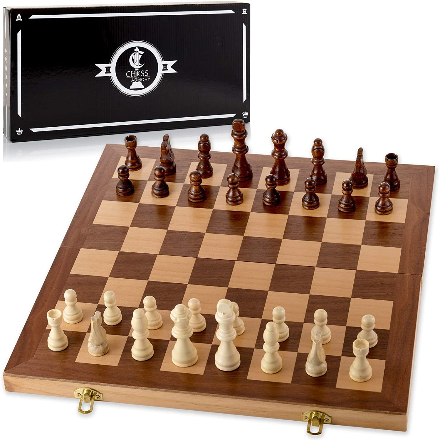 Chess Armory Wooden Chess Set