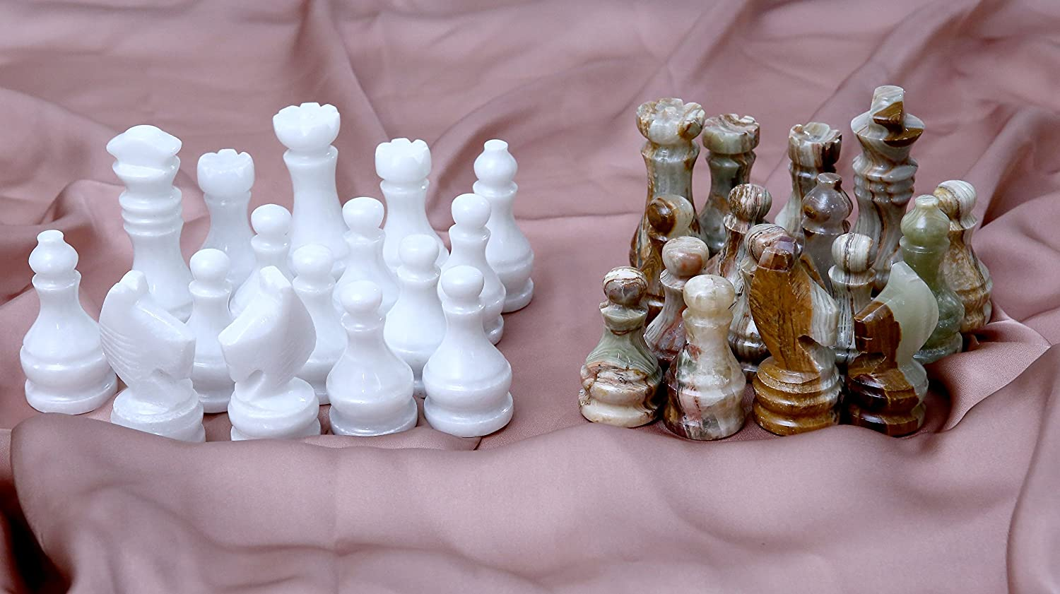 Radicaln Marble Chess Pieces