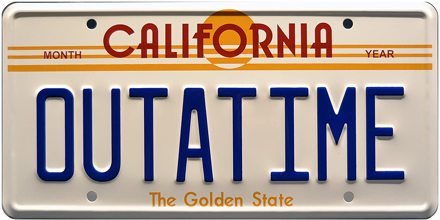 Celebrity Machines Back To The Future Vanity Prop License Plate Render