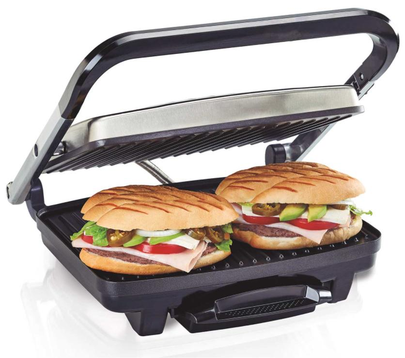 Hamilton Beach Electric Panini Press Stainless Steel Render