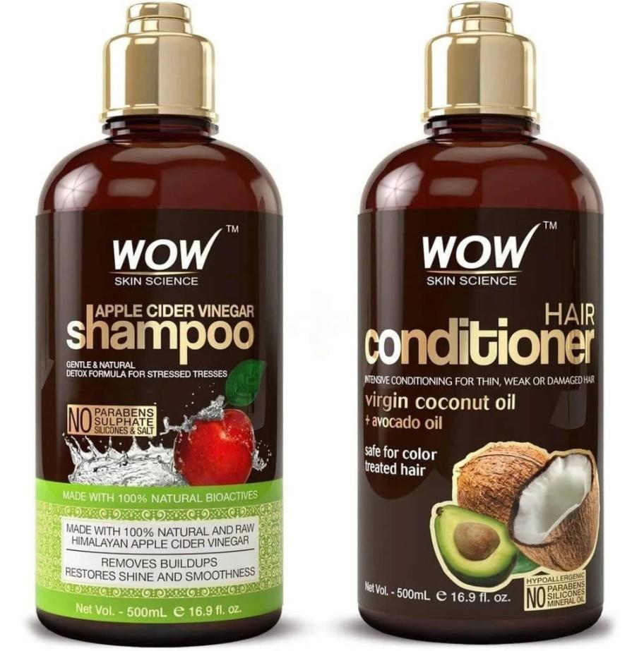 Wow Apple Cider Vinegar Shampoo And Hair Conditioner Set Render