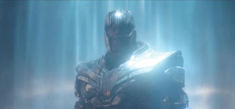 A still of Thanos from Endgame trailer