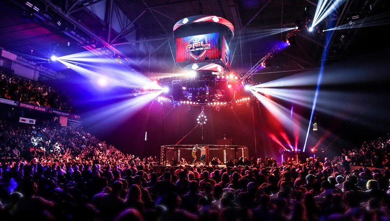 PFL Fight in Cage wide arena view