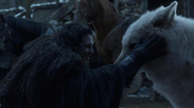 Game of Thrones Jon and Ghost