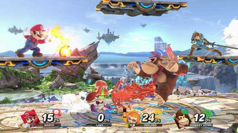 Super Smash Bros Ultimate Nintendo Switch Battle Screenshot