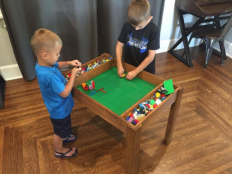Children S Lego Table And Chairs, Wood Lego Table With Chairs