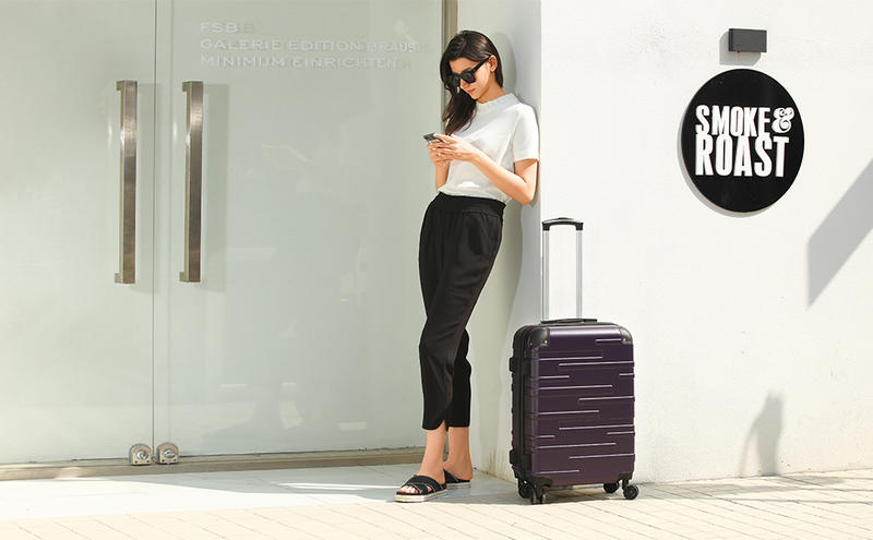 coolife expandable suitcase