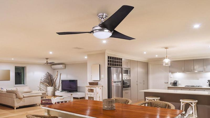 photo of Enjoy the perks of having a ceiling fan and a light installed as a unit. image