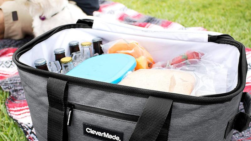 CleverMade collapsible 50-can cooler