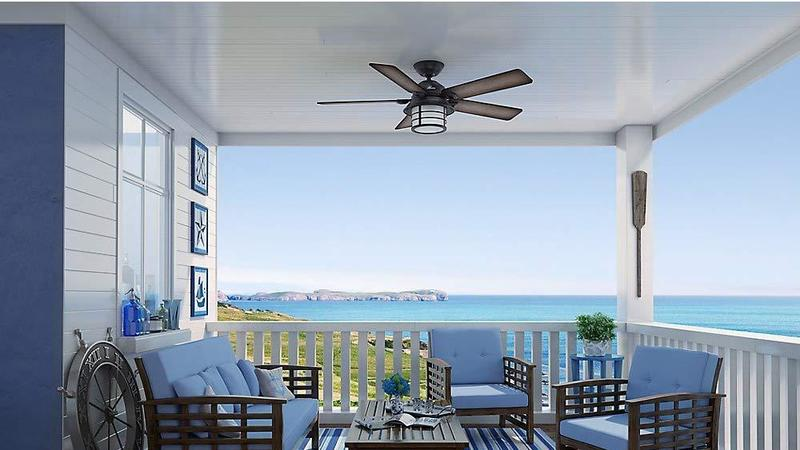 Key Biscayne Collection Weathered Ceiling Fan