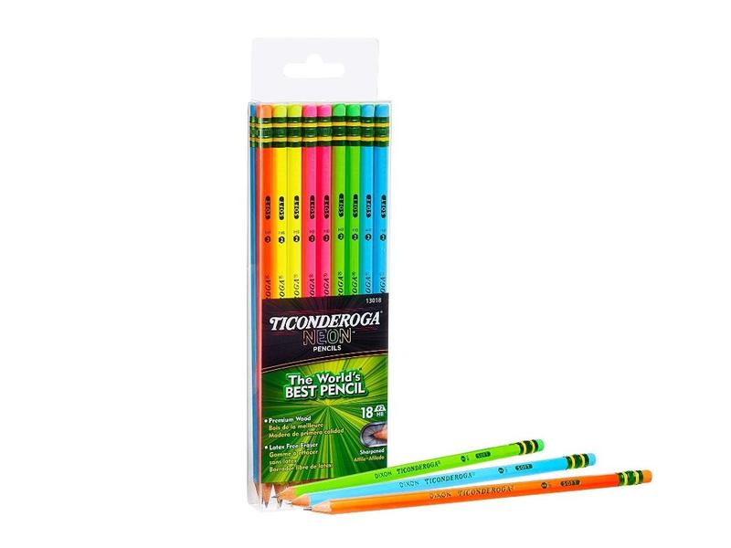Ticonderoga Neon pencils