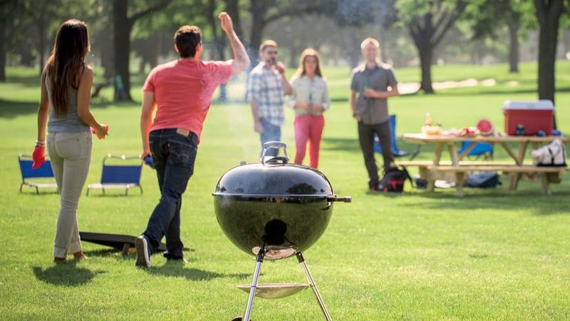 Weber Original Kettle Charcoal Grill lifestyle