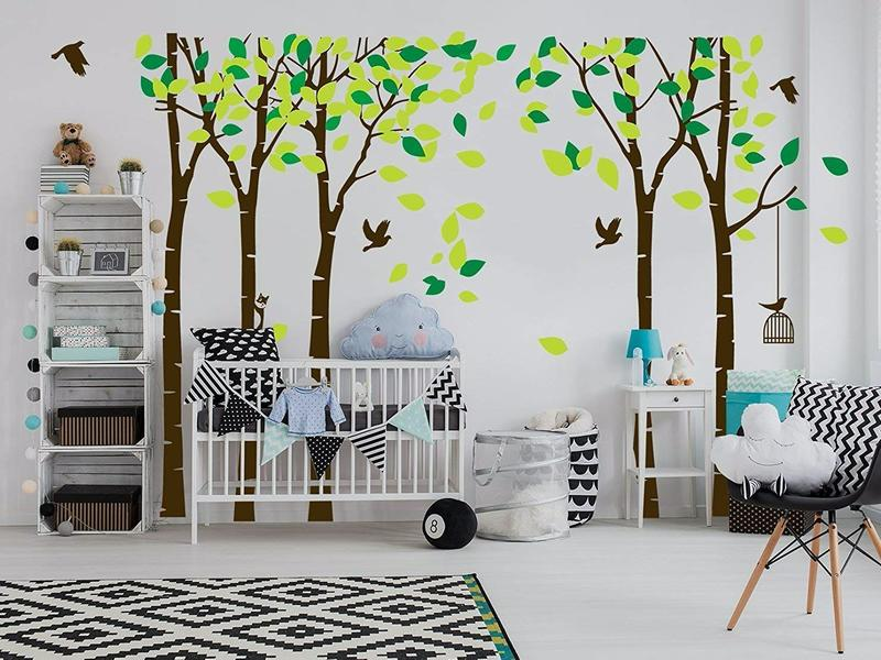 ANBER Giant Jungle Tree Wall Decal  lifestyle image