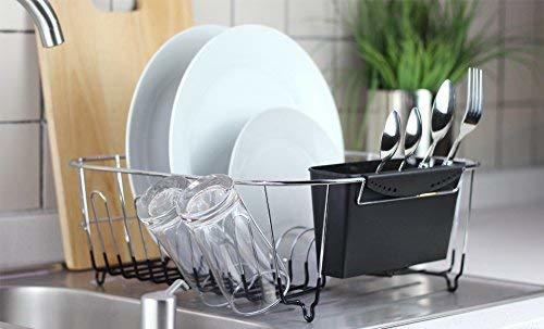 Neat-O Deluxe Chrome-plated Steel Small Dish Rack lifestyle image