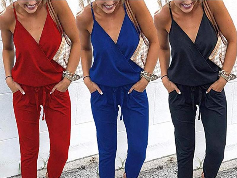 QEESMEI Women's Jumpsuits Rompers for women lifestyle image