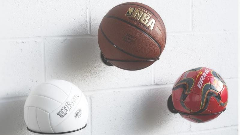 photo of Keep your basketballs out of the way with these racks image