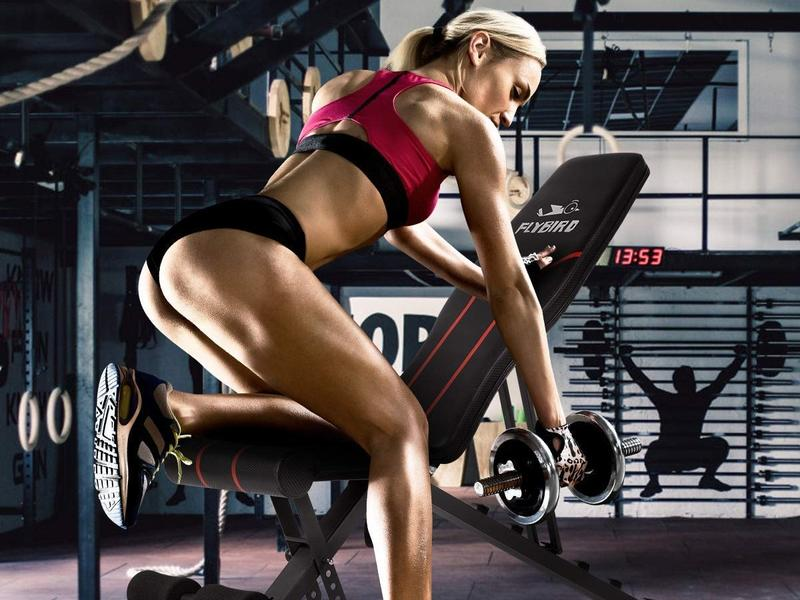 Get a whole body workout at home with an adjustable weight bench