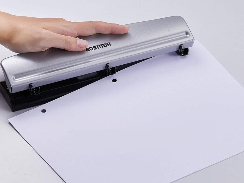 Bostitch Office Hp12 3 Hole Punch Lifestyle Edited