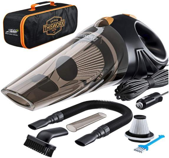 Car Vacuum 14.7 Ft Corded CHERYLON Portable Car Vacuum Cleaner High Power 150W//7500Pa for Car Interior Cleaning with Wet or Dry for Men//Women