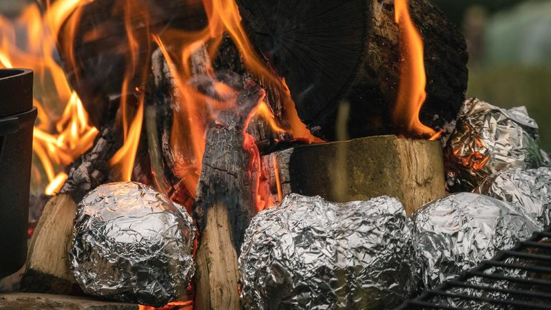 photo of Ensure every dish is covered with a little aluminum foil image